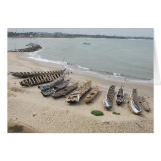 Fischerboote in Elmina, Ghana Karte