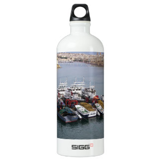 Fischerboote in Valletta Aluminiumwasserflasche