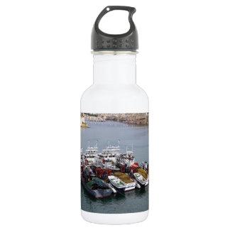 Fischerboote in Valletta Edelstahlflasche