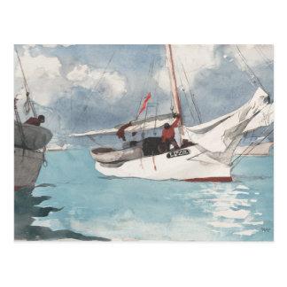 Fischerboote, Key West Postkarte