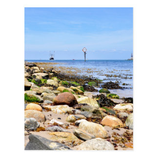 Fischerei am Einlass von Montauk See Postkarte