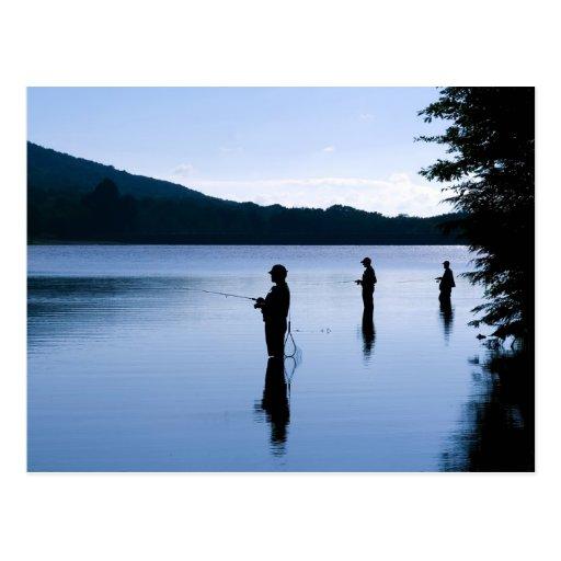 Fischerei am Tagesanbruch Postkarte