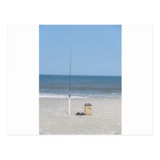 Fischerei auf dem Strand Postkarte