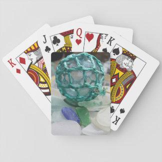 Fischerei des Floßes auf Glas, Alaska Spielkarten