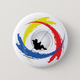 Fischerei des Tricolor Emblems Runder Button 5,1 Cm