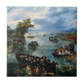 Fischerei für Soule durch Adriaen van de Venne Fliese