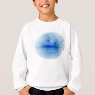 Fischerei großen blauen und weißen Stangentraum Sweatshirt