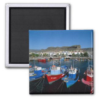 Fischerei-Hafen, Puerto de Mogan, Gran Canaria, Quadratischer Magnet