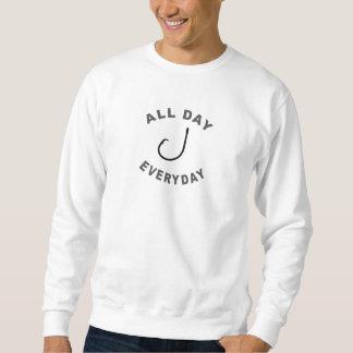 Fischerei-Haken den ganzen Tag tägliches R Sweatshirt
