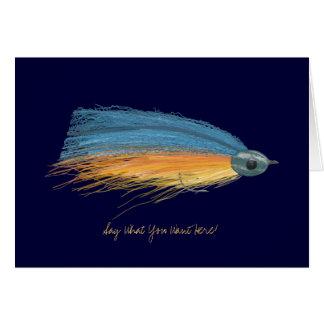 Fischerei Köder-der leeren Gruß-Karte