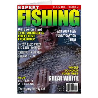 Fischerei personalisiertes Titelseite Karte