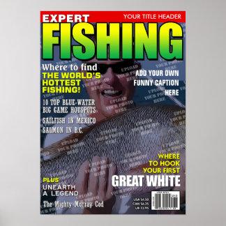 Fischerei personalisiertes Titelseite Poster
