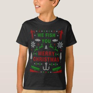 Fischerei Sie frohen Weihnachten Fishmas T-Shirt