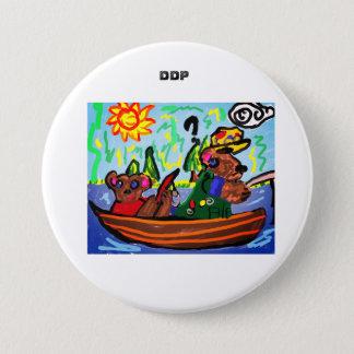Fischerei von Bärnkunst Runder Button 7,6 Cm