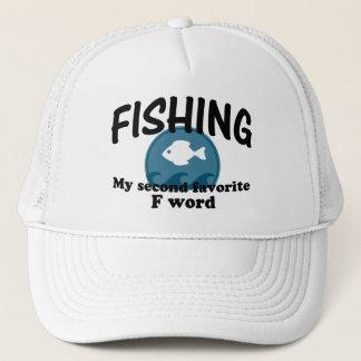 Fischerei zweiten Lieblingsf-Wortes Truckerkappe