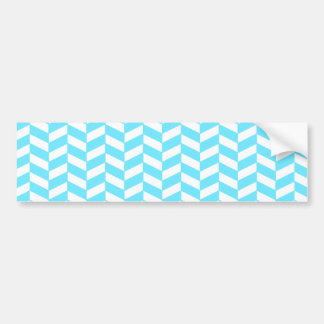 Fischgrätenmuster-weißes helles blaues autoaufkleber