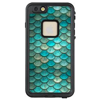 Fischskalamuster der Meerjungfrau grünes mit LifeProof FRÄ' iPhone 6/6s Plus Hülle