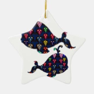 Fischwasseraquarium NavinJOSHI Kunst des WALS Keramik Ornament