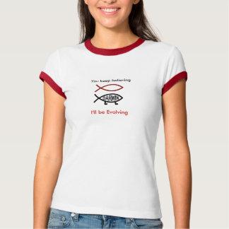 fish_prismatic_red, Darwin, behalten Sie das T Shirts