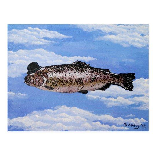 Fish with Bowler Postkarte