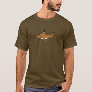 Fishfry entwirft dunklen Hammerhai-T - Shirt