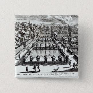 Fishponds an Landhaus d'Este, Tivoli, von 'Le Quadratischer Button 5,1 Cm