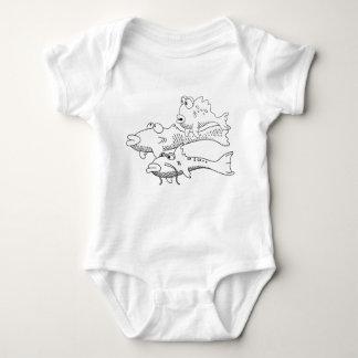 FishyWorld Baby springen Reihe Baby Strampler