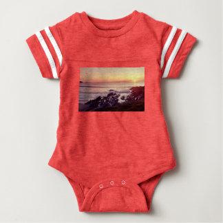Fistral Strand-Sonnenuntergang Baby Strampler