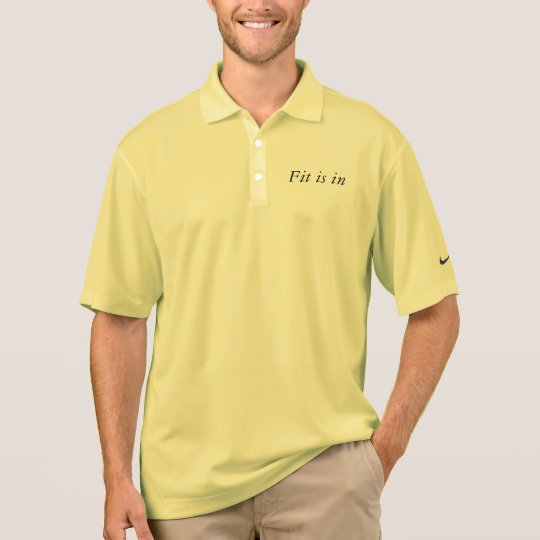 Fit is in polo shirt