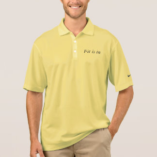 Fit is in poloshirt