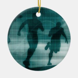 Fitness-APP-Verfolger-Software-Silhouette Keramik Ornament