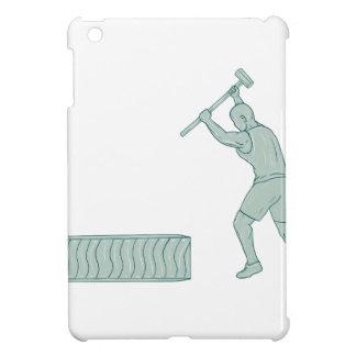 Fitness-Athleten-Schlitten-Hammer-auffallender Hüllen Für iPad Mini