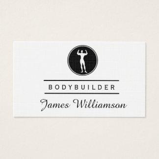 Fitness BODYBUILDER Logo-Turnhalle trägt Visitenkarte