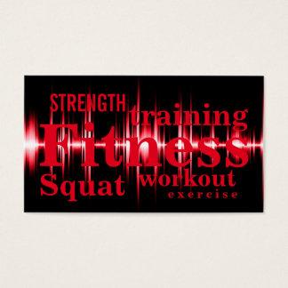 Fitness, die cooles rotes berufliches ausbildet visitenkarten
