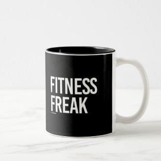 Fitness-Freak -   Trainings-Fitness - .png Zweifarbige Tasse
