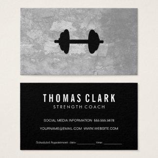 Fitness-Gewichts-graue Beschaffenheits-Verabredung Visitenkarte