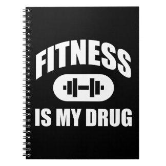 Fitness ist meine Droge - motivierend Notizblock