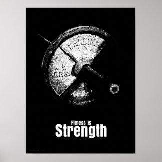 Fitness ist - Stärke Plakat
