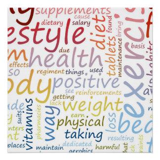 Fitness-Konzept für Gewichts-Verlust und Poster