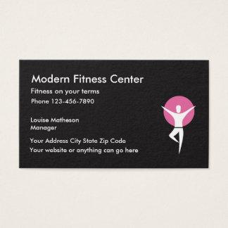 Fitness-Mitte arbeiten Turnhalle aus Visitenkarte