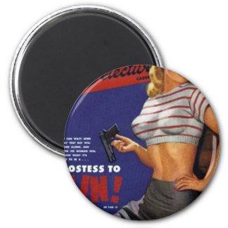 Fitness-Modell-Rauchen Runder Magnet 5,1 Cm