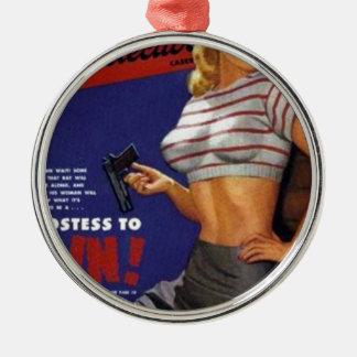 Fitness-Modellrauchen Silbernes Ornament