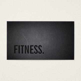 Fitness-moderner mutiger Text-elegantes dunkles Visitenkarte