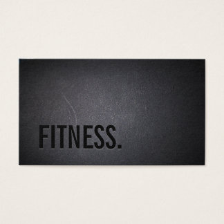 Fitness-moderner mutiger Text-elegantes dunkles Visitenkarten