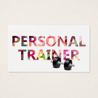 Fitness-persönlicher Trainer-geometrischer Visitenkarte