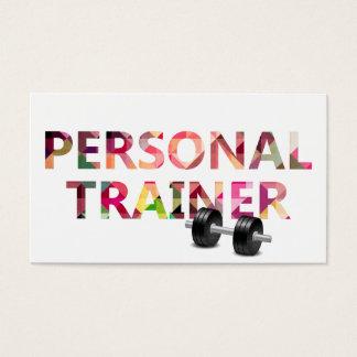 Fitness-persönlicher Trainer-geometrischer Visitenkarten