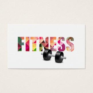 Fitness-persönlicher Trainer-moderne Typografie Visitenkarte