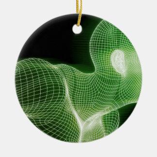 Fitness-Technologie-Wissenschafts-Lebensstil als Keramik Ornament