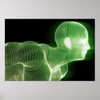 Fitness-Technologie-Wissenschafts-Lebensstil als Poster