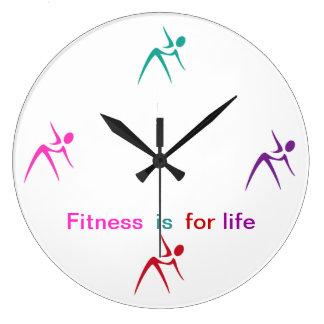 Fitness-Thema-Wand-Dekor-Uhr Uhren